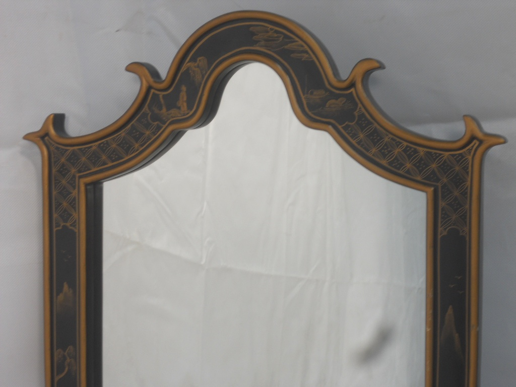 Antique oriental style hanging wall mirror sold antique oriental style hanging wall mirror amipublicfo Choice Image